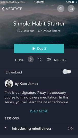 The Simple Habit starter meditation series